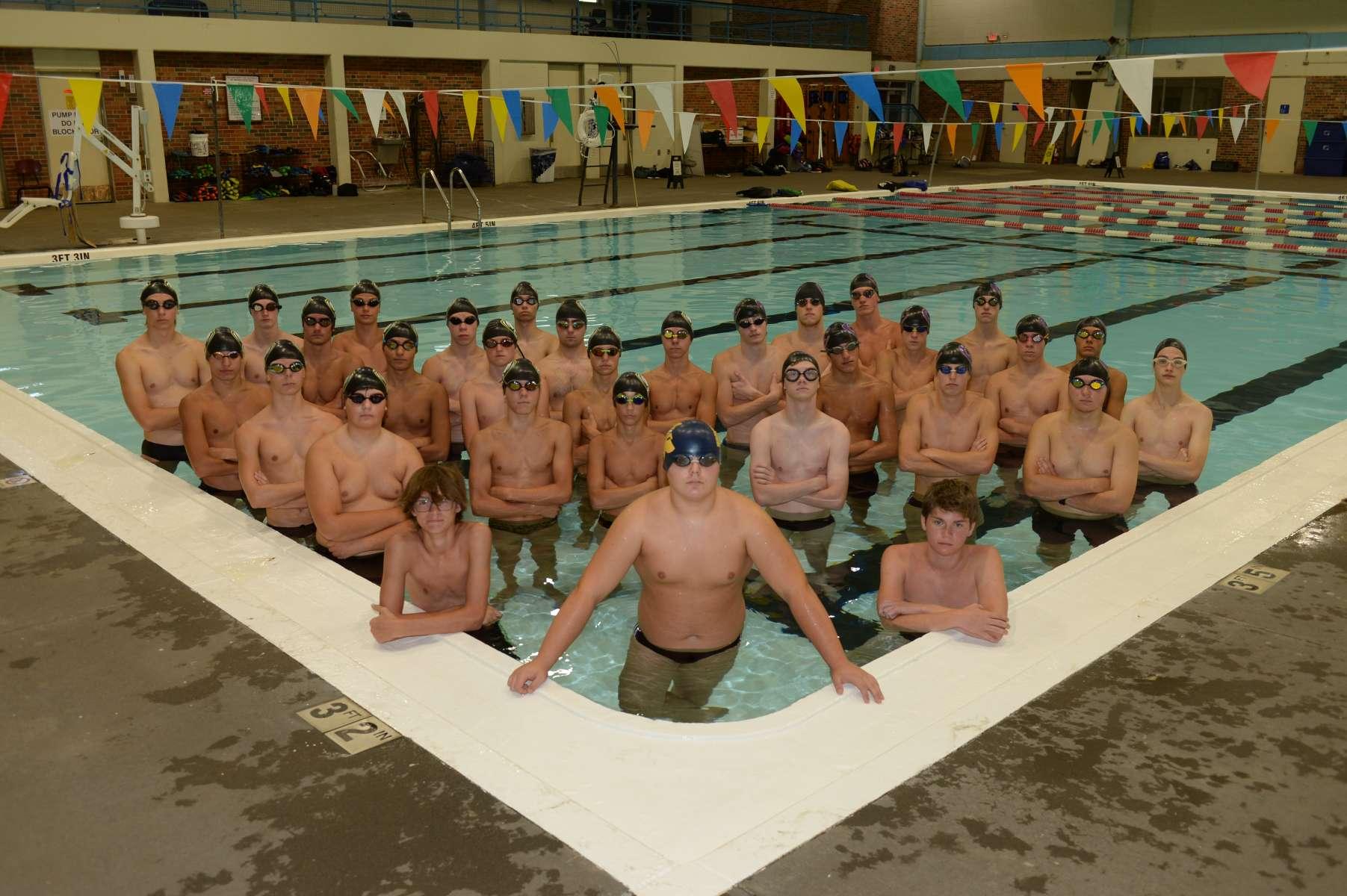 Boys Swim and Dive Team Photo